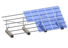 Aluminum Ground Mounting System-Single Slot U Beam