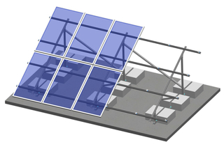 Flat Roof -C Type Steel Ballasted Roof Mounting System