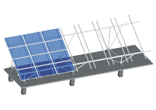 Aluminum Ground Mounting System-Fixed W Type
